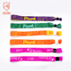 Cheap Customized Slide Lock Plastic Clip Festival Thin Fabric Woven bracelet Friendship Event Concert Wristband With Buckle