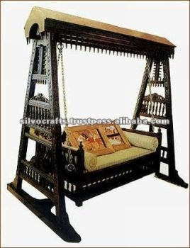 Beau Antique Indian Carved Swing Jhoola (Antique Reproductuon Furniture)
