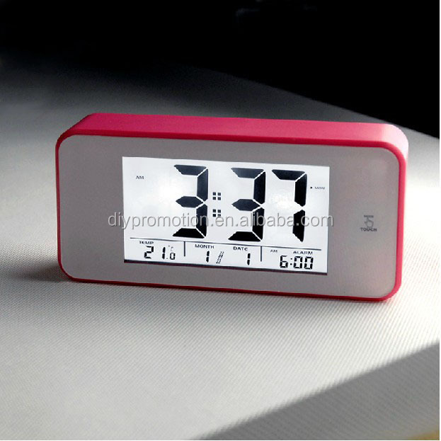Newly design iphone shape mini digital lcd table clock
