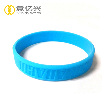 Engraving Logo Cool Blue Hand Straps Silicone Gel Bracelets