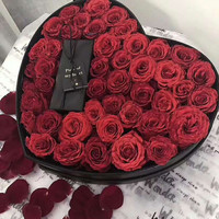 White Embossing Chocolate Design Popular Handmade Cheaper Soap Flower Gift Low Price Custom Different Color Rose Box