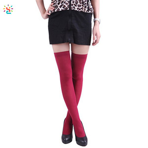 328415e35 New Apparel women thigh high socks solid color opaque sexy nylon over the  knee sock