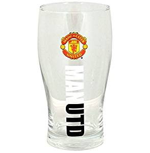 Official Manchester United FC Wordmark Pint Glass by Manchester United FC