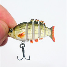5cm 25g Mini Vibe Hard Fishing Lure 6 sections fishing accessories