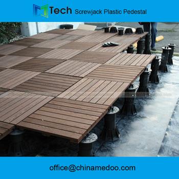Adjustable Plastic Deck Support Raised Access Floor