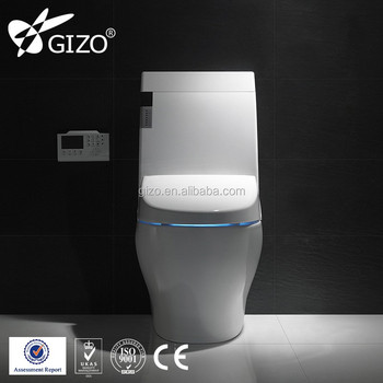 Gizo JJ-0802z China ceramic one piece human size intelligent toilet