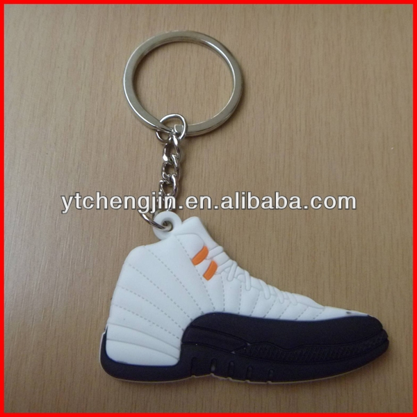 White Blk AJ12 wholesale jordan shoes key chains