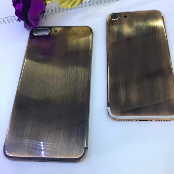 Custom Bronze Metal Back Housing For iPhone7