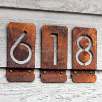 Cute laser cutting house numbers and compamy address board