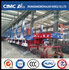 CIMC 2axle Low Bed Semi Trailer for Carrying Steel Coil