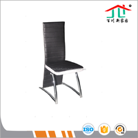 cheap new design black pu leather dining chairs high quality dinning room furniture classic dinning chair