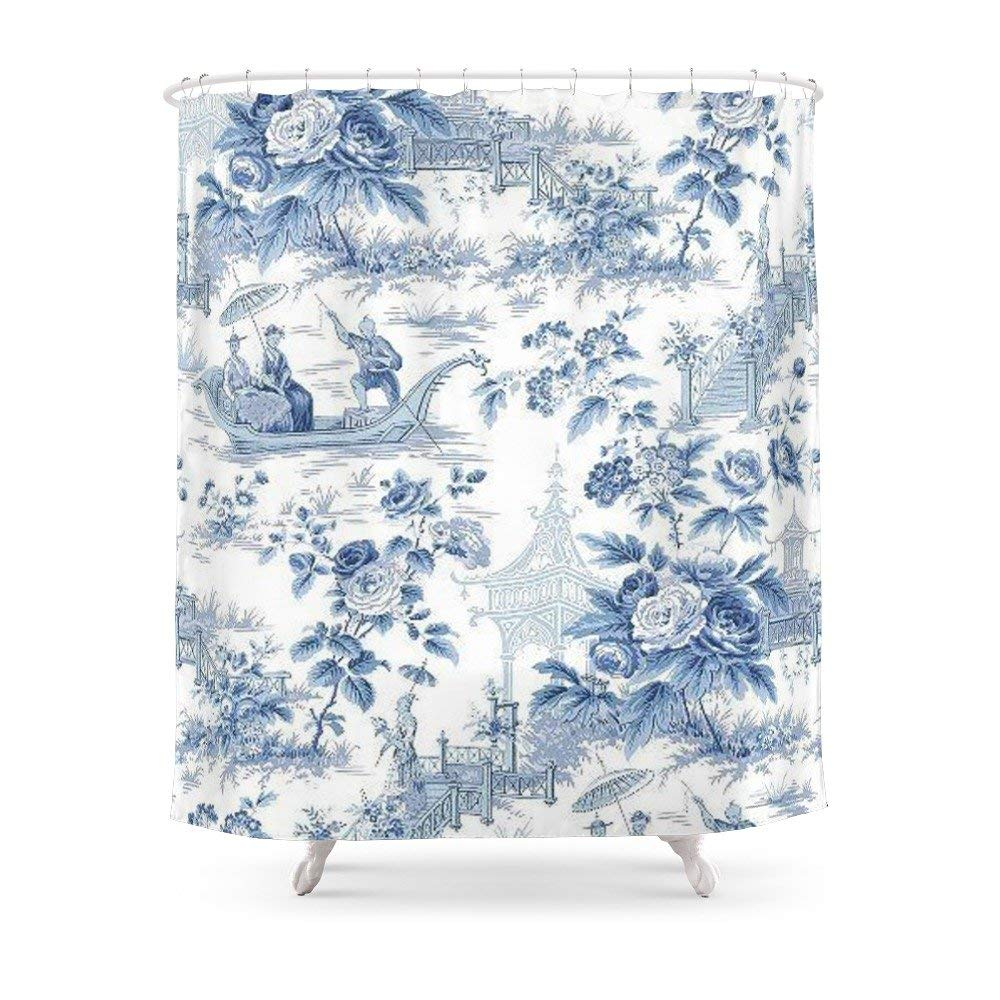 Get Quotations Society6 Powder Blue Chinoiserie Toile Shower Curtain 71 By