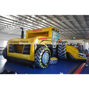 New design inflatable tractor bounce, construction truck inflatable bounce house for sale
