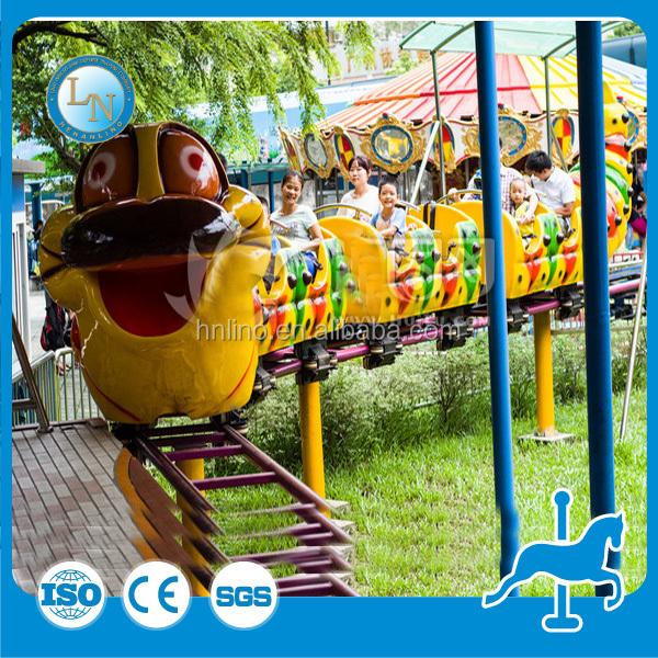 Modern Park Caterpillar Train Ride! Amusement Mini