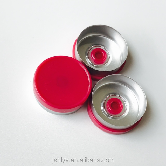 HLNPM 20mm aluminium and plastic caps /flip off caps for medical vials