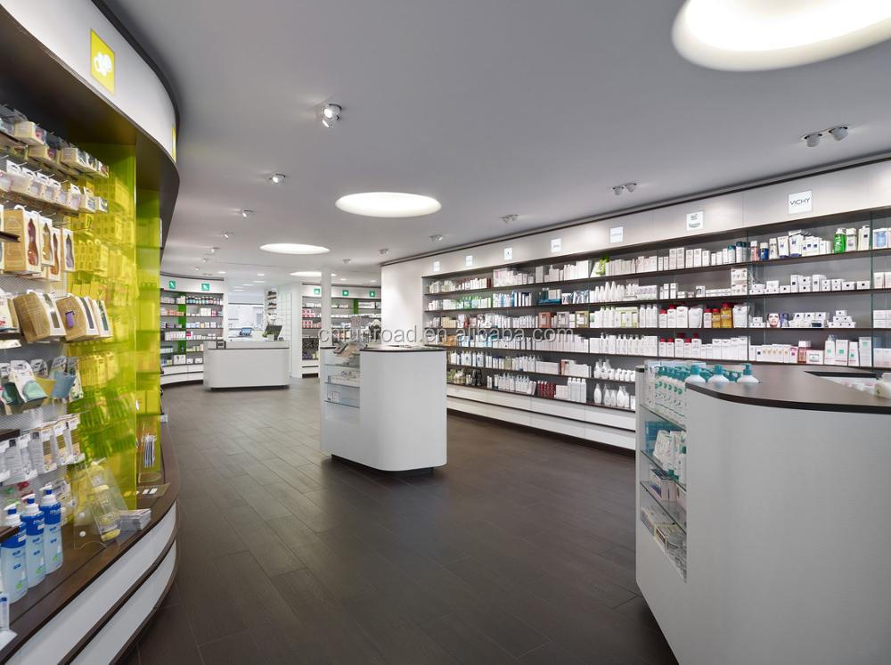 custom retail pharmacy shop interior design store furniture