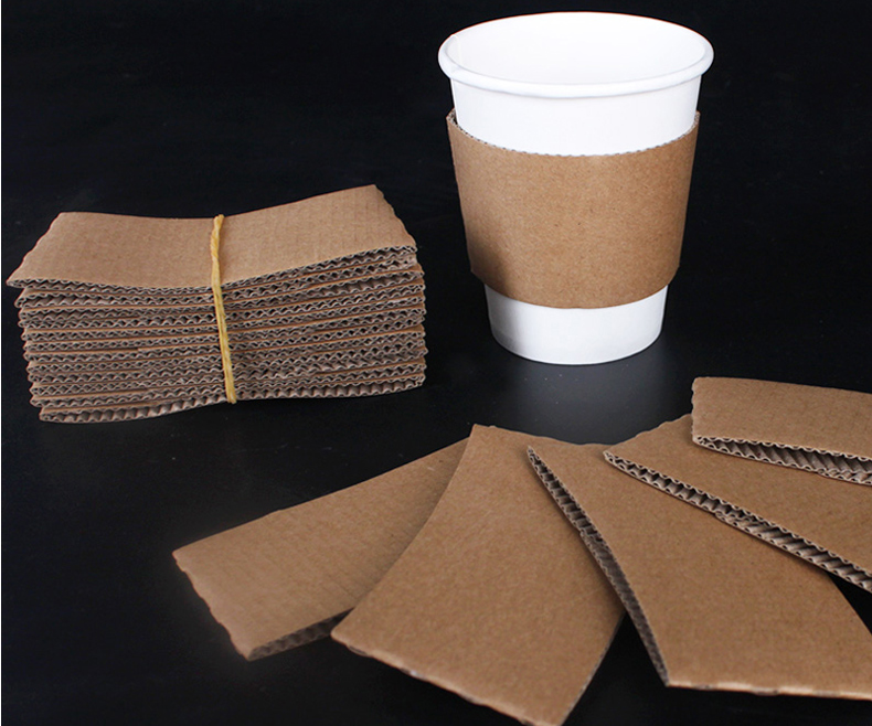 Insulated Kraft paper coffee cups for hot drinking