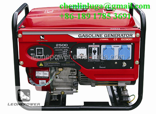 hot saling 4 stroke twin cylinder air-cooled 6.5hp gasoline generator set
