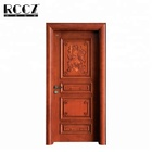 new designs solid natural interior wood carving door