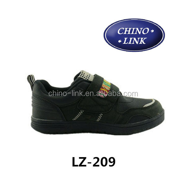 High quality rubber soles kids shoes, pu leather with suede leather shoes