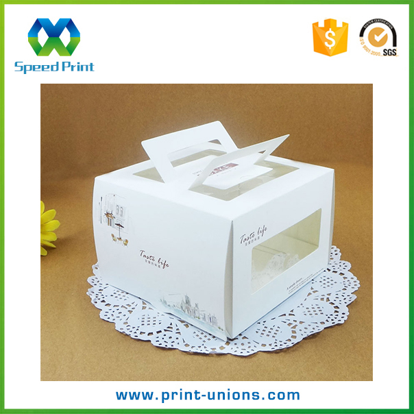 High end cake packaging box custom top quality paper box package
