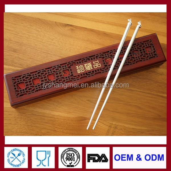 top QUALITY EBONY 925 STERLING SILVER WOOD chinese traditional Wedding Favor chopsticks Engraved customized Chopsticks