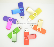 Bulk high quality cheap factory directly price swivel usb flash drive OTG support mobile phone & computer