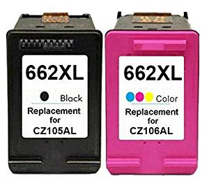 YATUNINK 662XL Replacements Black&Colour Multipack With Real Ink Level Showing For 662XL Ink Carts(CZ105AL/CZ106AL) Fit Deskjet Ink Advantage 4645 Deskjet Ink Advantage 4666