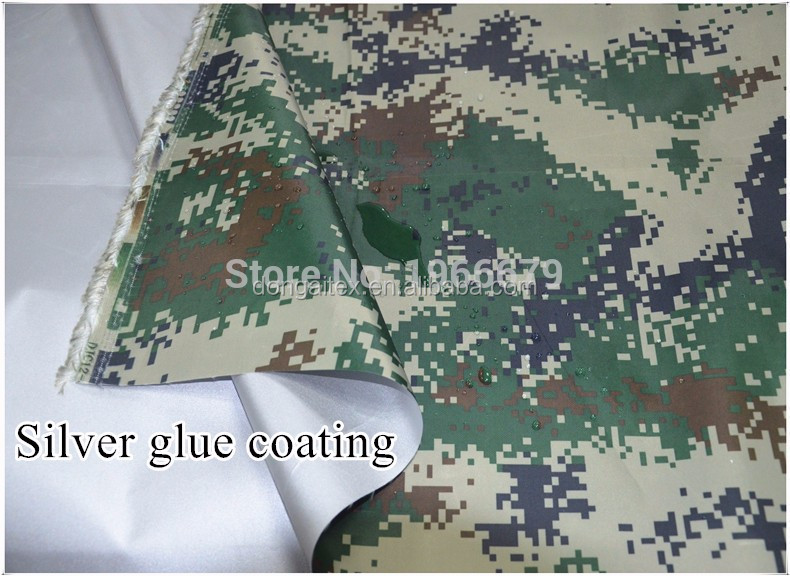 420D waterproof Oxford cloth outdoor camouflage tent fabric