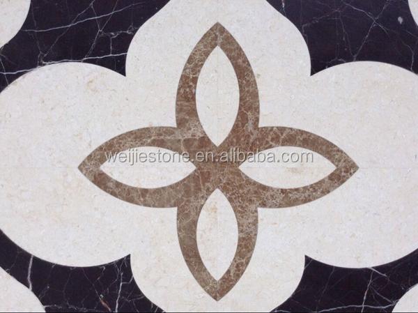 Marmo taglio ad acqua pavimentazione sala motivi floreali kerala
