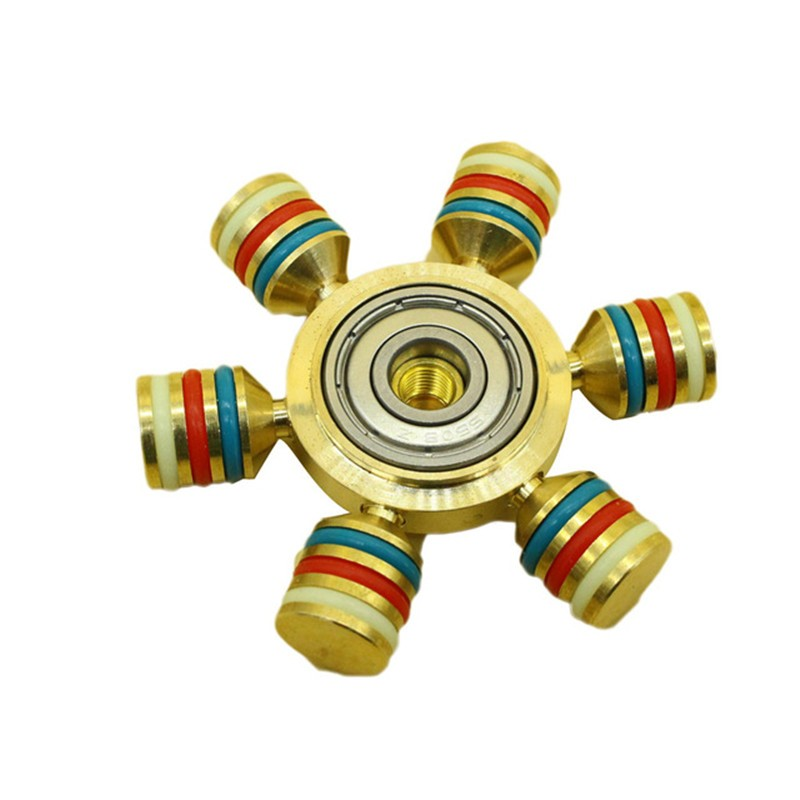 New Latest EDC Toys Triangular Hand Spinner Professional Copper Fidget Spinner Autism and ADHD