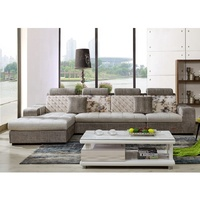 Latest Large Corner Sofa Headrest Diwan Sofa Set Designs Modern L Shape Sectional Sofa With Chaise