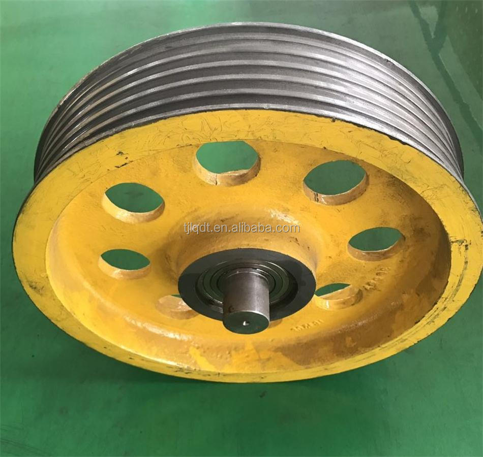 17TC guide pulley elevator wheel or rope sheave for elevator spare parts