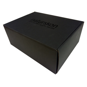 Custom recyclable black paper packaging shoe box for shipping