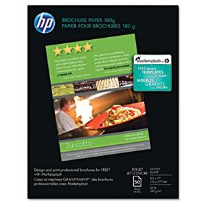 Inkjet Brochure/Flyer Paper, 98 Brightness, 48lb, 8-1/2 x 11, White, 50 Shts/Pk, Sold as 50 Sheet