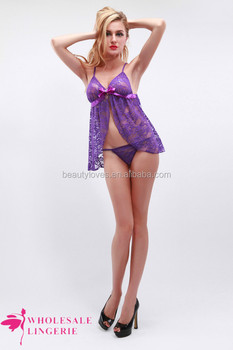 Young Girls Hot Girl First Night Sexy Dresses Nightwear Purple Sex Transparent Nightwear
