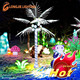 white luminous led coconut palm tree light for outdoor decorations
