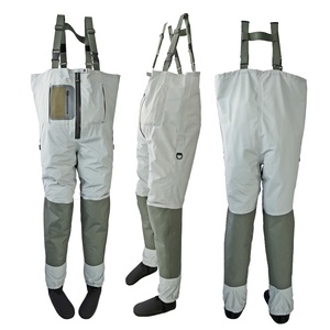 Custom Breathable Chest Waders Zippered Stocking foot Fishing Waders For Fly Fishing
