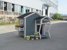 Large wooden pet house animal home Diy dog home