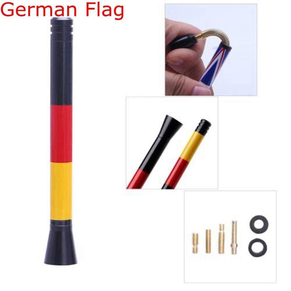 Get Quotations · Lonngzhuan Practical Short Metal Flag Design Carbon Fiber  Modified Radio Car Antenna for MINI Cooper S