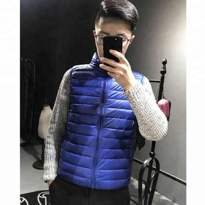 Men Vest Coat Simple Design Sleeveless Down Vest Outdoors