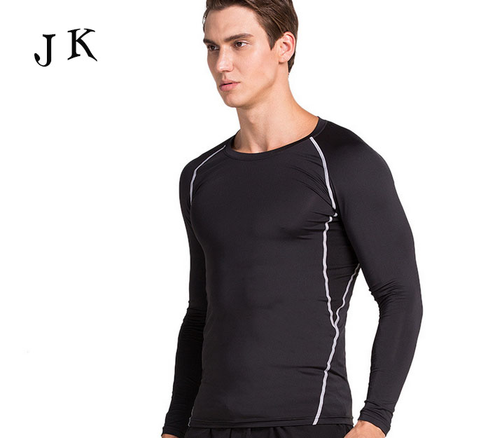 Black plain sweat absorbing t shirt ,mens body fit long sleeves t-shirt