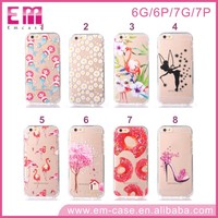 2017 Hot-Selling Two pieces Impression Flamingo/Flowers/Village Cell phone case for iphone7 7plus 6 6plus