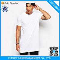 High Quality Plain White Tall Tee Shirt Blank T Shirt Men Extra Long T shirt