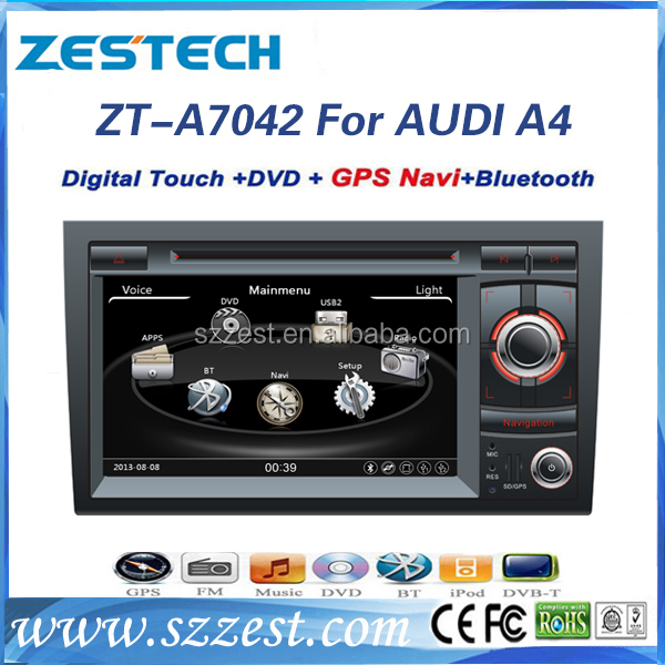 For Audi A4 car dvd player with Gps, DVD, Bluetooth, Radio, RDS, Rear camera, TV, USB/SD, AUX for Audi A4
