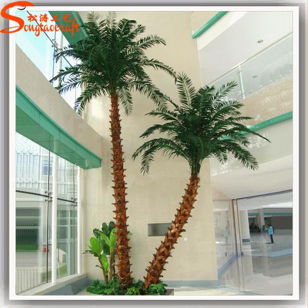 Alta calidad artificial pl stico falso palmeras hojas - Palmeras de plastico ...