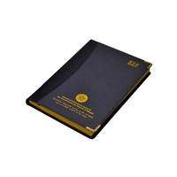 Custom OEM design color leather cover thick book leather notebook printing