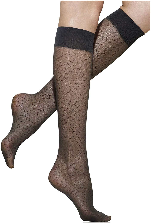 ec573e8be Get Quotations · Silkies Women's Honeycomb Sheer Trouser Socks 2 Pair Pack
