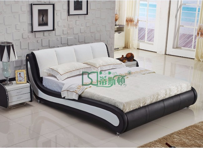 Modern European Style Music Bed With Built In IPhone Speaker, Foshan  Factory Multifunctional LED