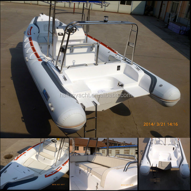 Best selling rigid inflatable fiberglass fishing boat /yacht